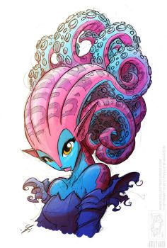 Tentacle Hair (Colour) by jollyjack