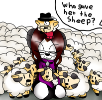 Where Did All The Sheep Come From  by Mongoosegoddess