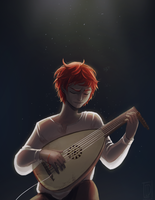 Kingkiller: Kvothe Playing in the Eolian by Izzu-shi