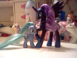 Filly Luna Custom and Nightmare Moon by Starlyk