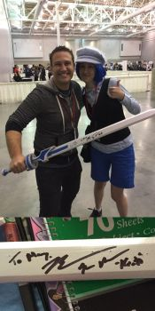Me and Bryce Papenbrook by HikazePrincess