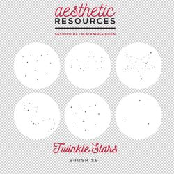 Twinkle Stars Brush Set by aestheticrsc
