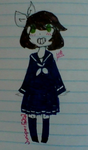 Me as a Japanese schoolgirl. by Juniper5202