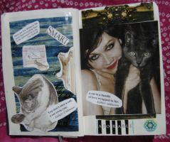1st Altered Book 6, Favorites by angelstar22