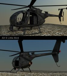 AH-6j Little Bird Texture WIP by Artificialproduction