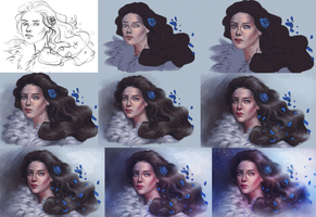Progress - Lyanna Stark by SandraWinther