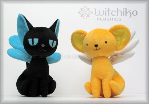 Kero and Spinel Plush::::::::: by Witchiko