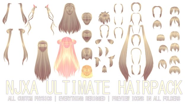 ULTIMATE NJXA HAIRPACK DL by kreifish
