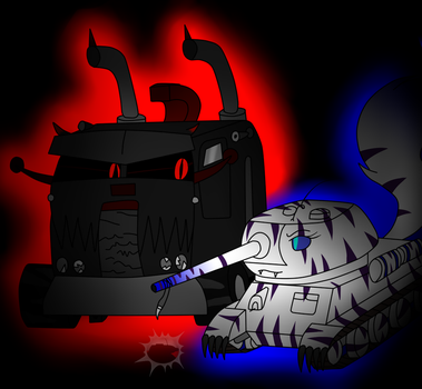Monster Truck and Tank by TinaTank
