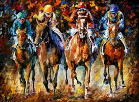 Follow The Leader by Leonid Afremov by Leonidafremov