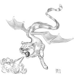 Cat Dragon by nellems