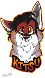 Con Badge: Kitsu by StangWolf