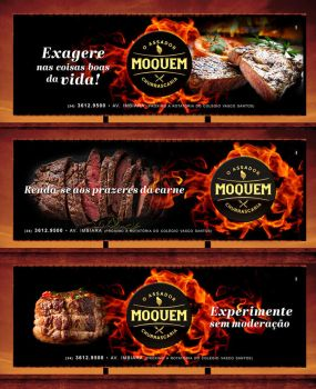 Moquem Steak House - outdoor advertising campaign by tutom