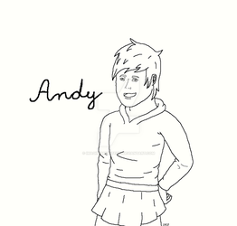 Lineart Comission: Andy by ImaginemonsterVi