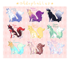 [ CHEAP ADOPTABLES ] Batch 1 [ OPEN 3/9 ] by tuffetti