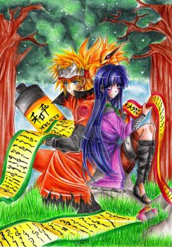 :. NaruHina - Love Scroll .: by HokoriCupcake