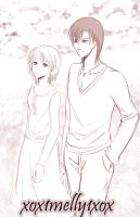 Ren and Kyouko - A Walk by xox1melly1xox