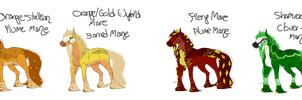 Peafrie Foals --  CLOSED by VeiledOverdose