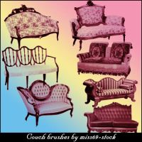 Antique Couch Brushes by miss69-stock