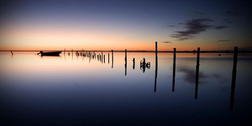Dawn Patrol, Mundoo Channel by dachimas-prints
