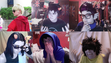 Homestuck Cosplays 6/2013 by krazorspoon