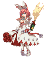 Commission: Elphelt Valentine by tenpoundpixel
