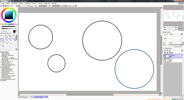 Paint Tool SAI - How to draw perfect circles by Teslarossa