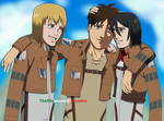 Trio Stays Strong ~ Attack on Titan by TheMuseumOfJeanette