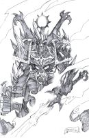 Chaos Space Marine Champion by 9thRealm