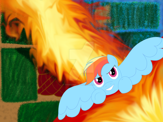 Firebender Rainbow Dash by CrimsonGlow