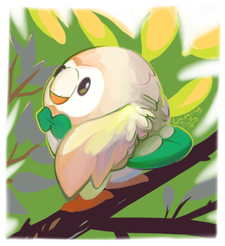 Rowlet Sees You! by UndyingSong