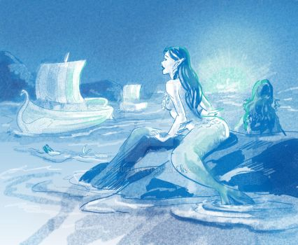 Maia of the Sea - Daily sketch 10.20.14