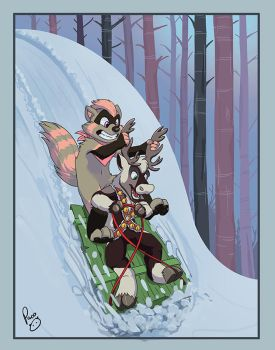 Downhill snow sled by pandapaco
