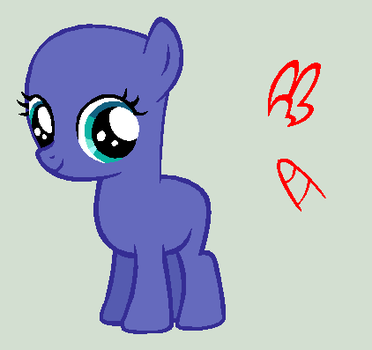 MLP:FiM Base: General Filly by caecii