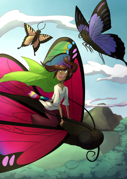 [C] Freedom is in the sky (with the butterflies) by QuackGhost