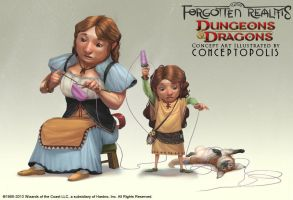 Stongheart Halfling (female) by Conceptopolis