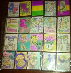 Island Dreams 2017: Mardi-Gras  Sketchcards by JasonShoemaker