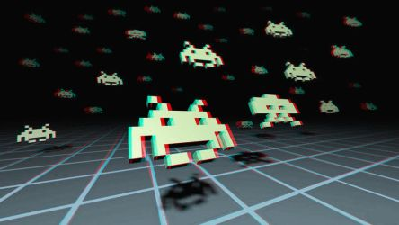 Space Invaders 3-D conversion by MVRamsey