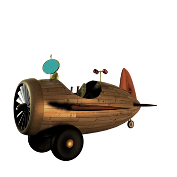 SteamPunk Plane 2 png by mysticmorning