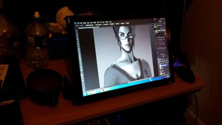 My new monitor graphics tablet! by Zynthex