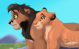 Kiara and Kovu redesign by melted-gummy-bears