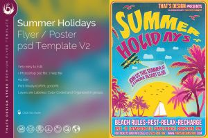 Summer Holidays Flyer Template V2 by Thats-Design