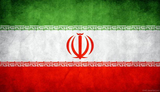 Iran Grungy Flag by think0