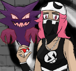 Team Skull Grunt challenged you to a battle! by draxzi