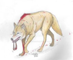 OFF_WHITE_Seven (wolf form) by MaximWolf