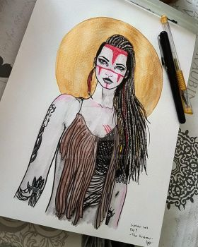 Inktober 2017 Day 9 - The Huntress by GiovyLoCa