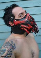 Ruby Dragon Slayer's Mask by Epic-Leather