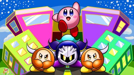 Kirby, Kirby, Kirby in the City! by Stacona