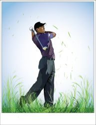 Tiger Woods Vector by sid