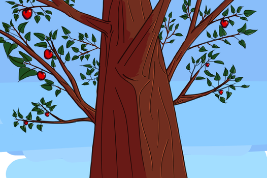 Dayly practice - Apple tree by Daratrix
